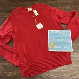 Brooks Brothers Red Fleece Knit Sweater Size Large